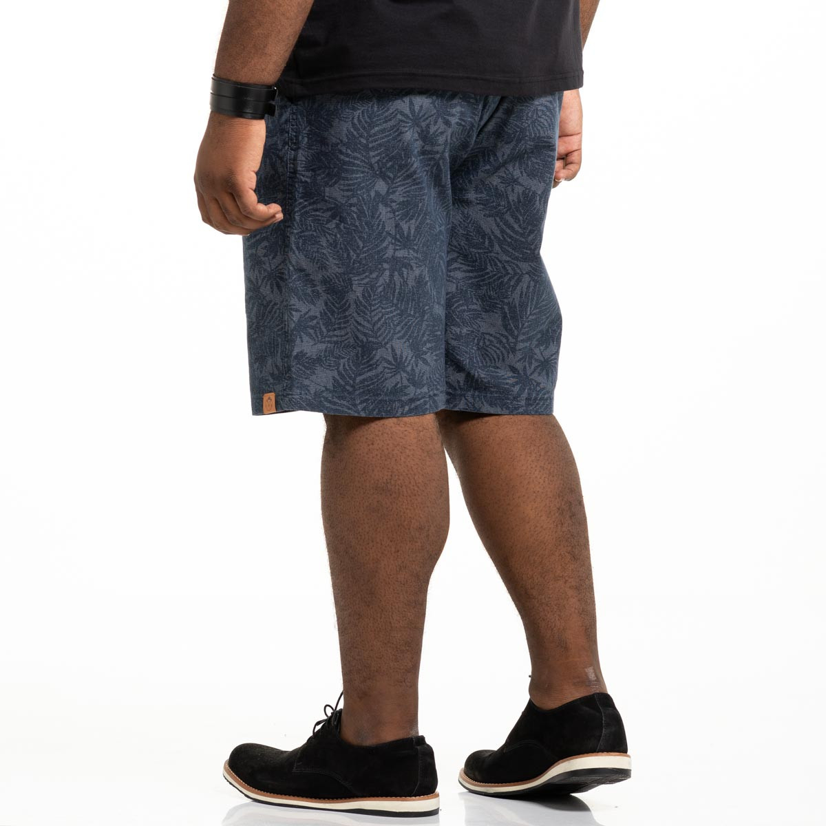 Bermuda de Sarja Plus Size Masculina Blue Jungle