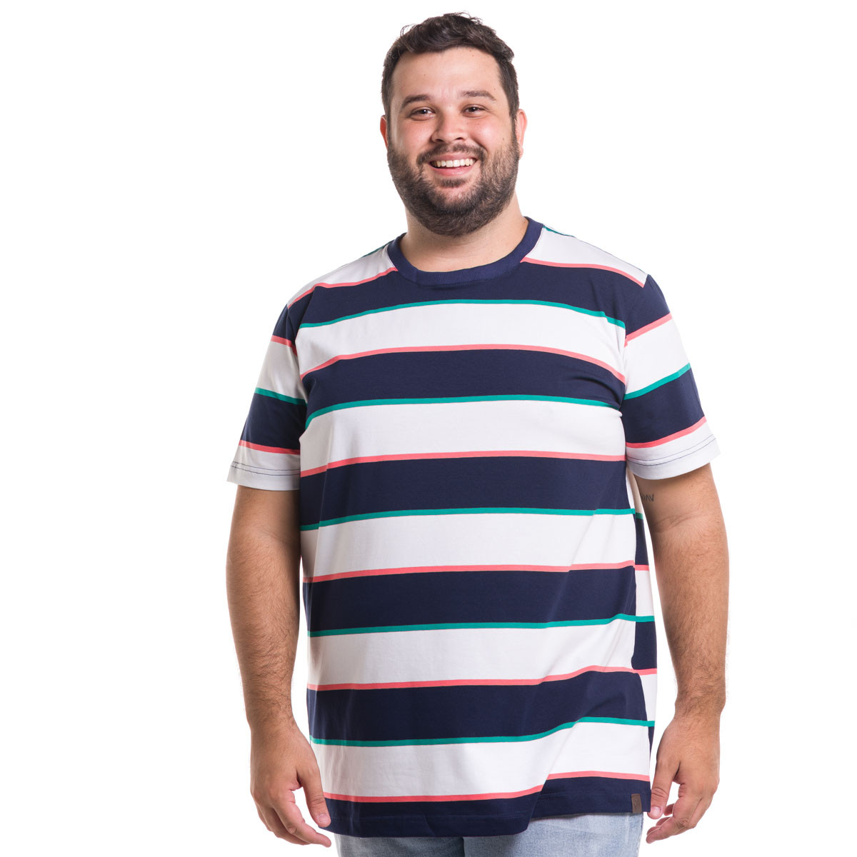Camiseta Plus Size Masculina Tripple Color