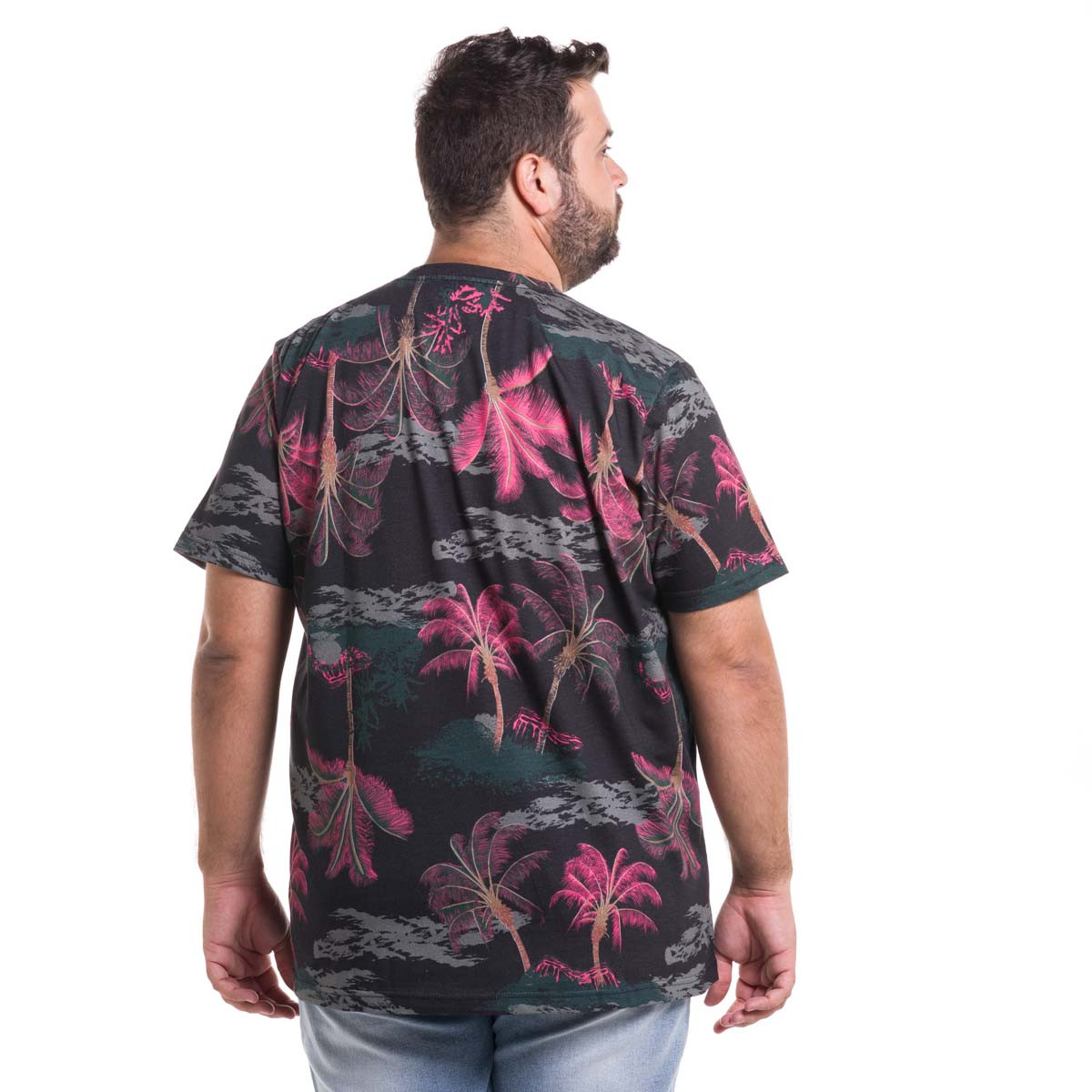 Camiseta Plus Size Masculina Night Forest