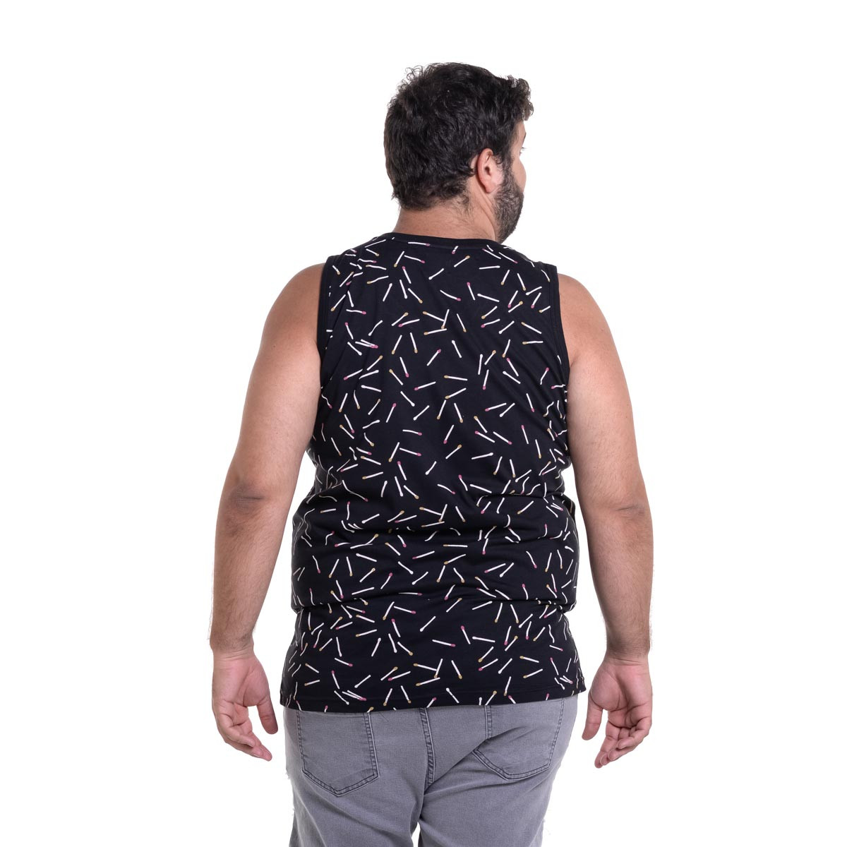 Regata Plus Size Masculina Palitos