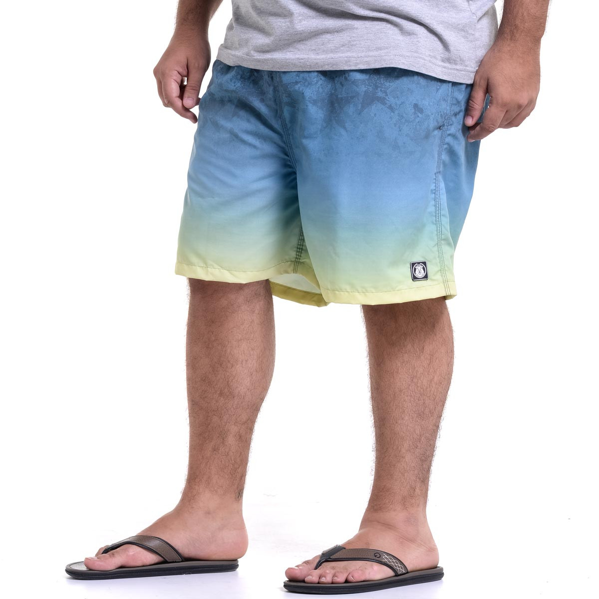 Short Microfibra Plus Size Masculino Degradê