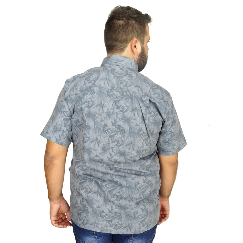 Camisa Plus Size Masculina Discreet Flowers