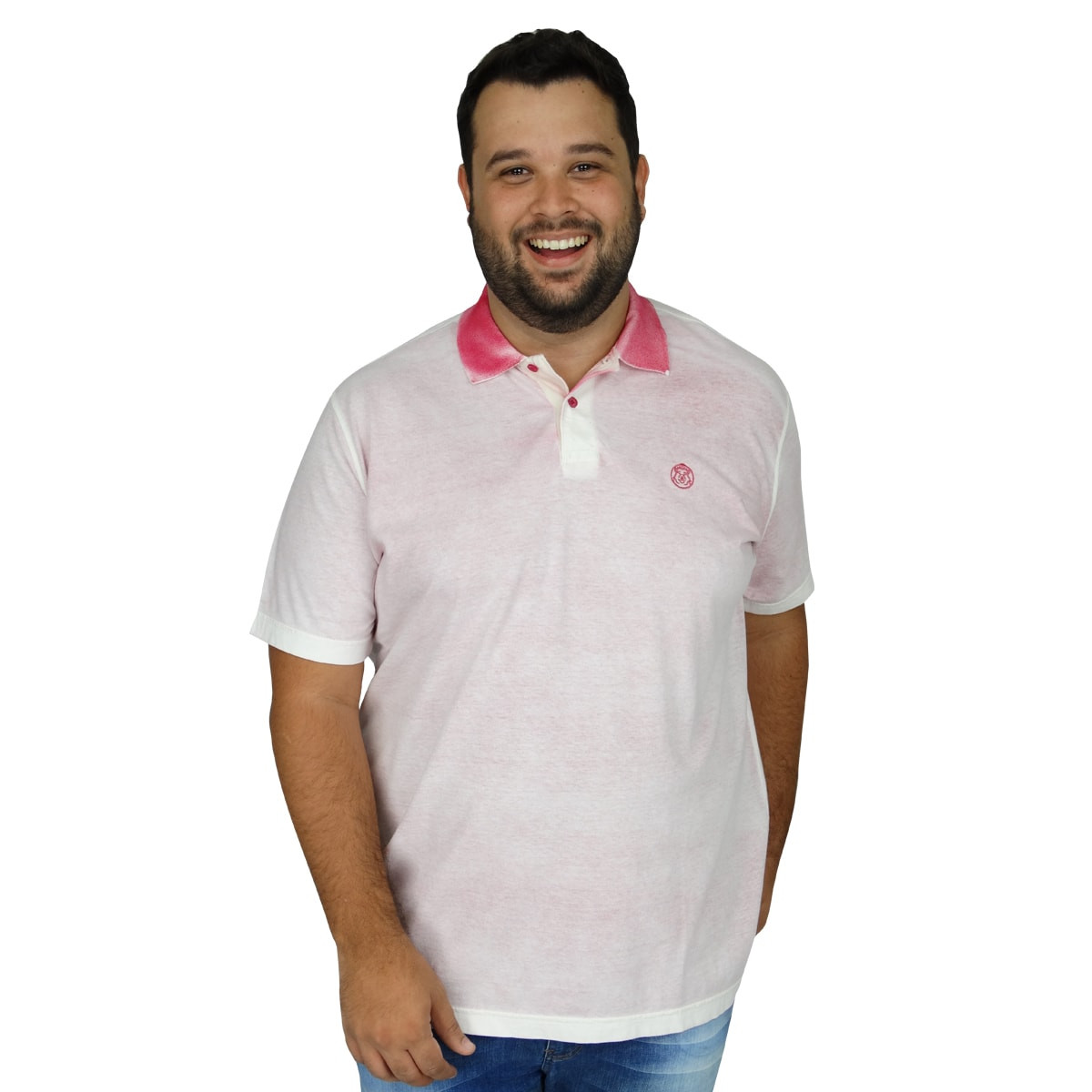 Polo Plus Size Masculina Spray do Avesso