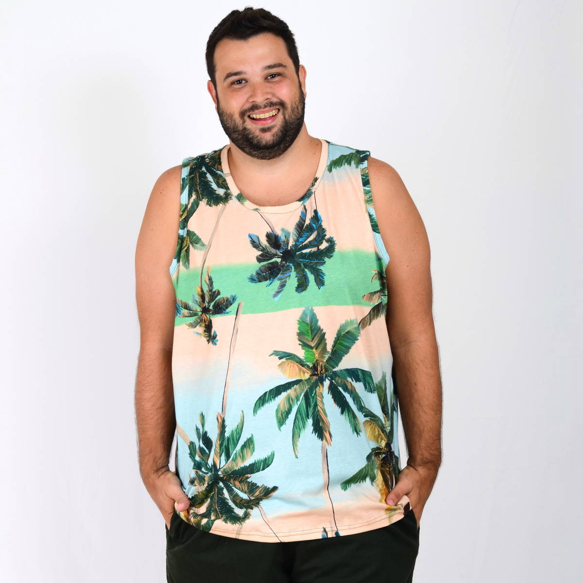Regata Plus Size Masculina Green Palmer