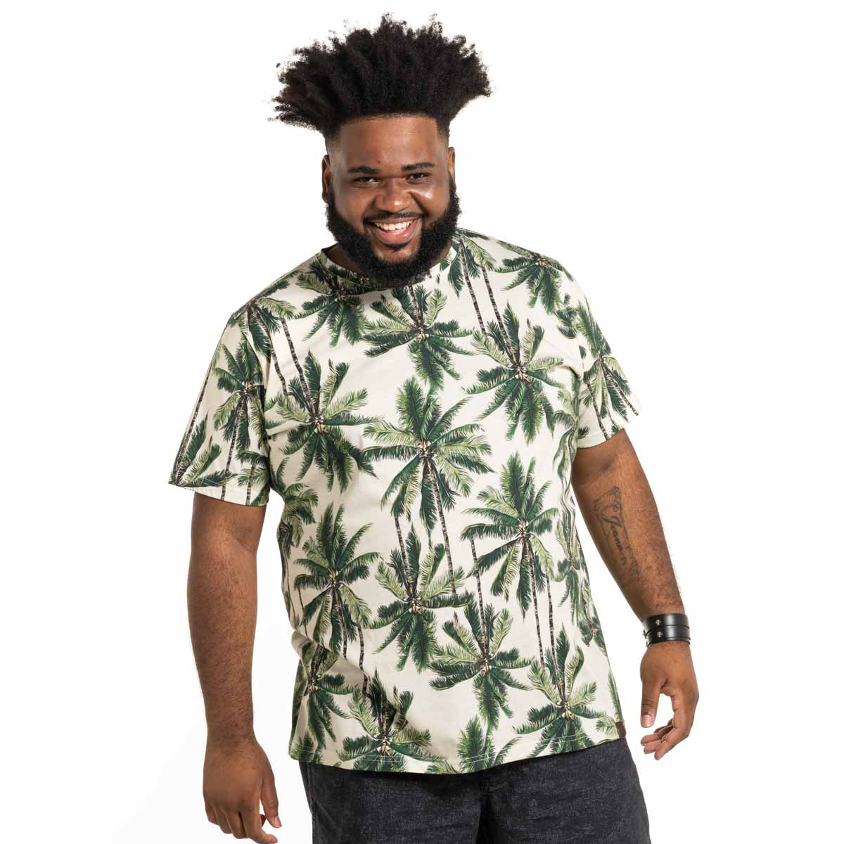 Camiseta Plus Size Masculina Palm Tree
