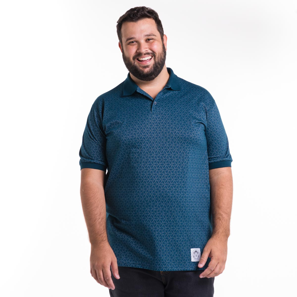 Polo Plus Size Masculina Calidoscópio