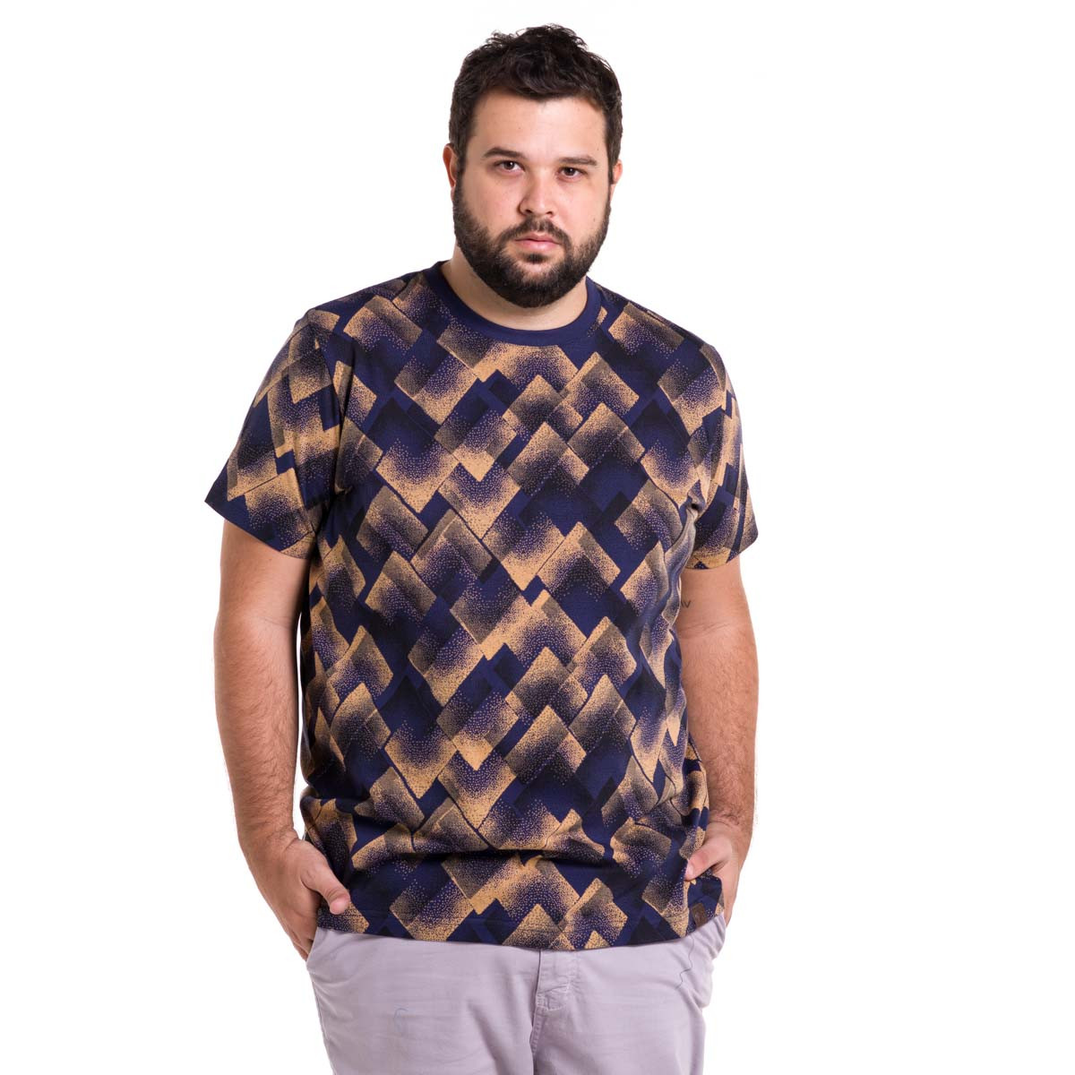 Camiseta Plus Size Masculina Diamond Dust