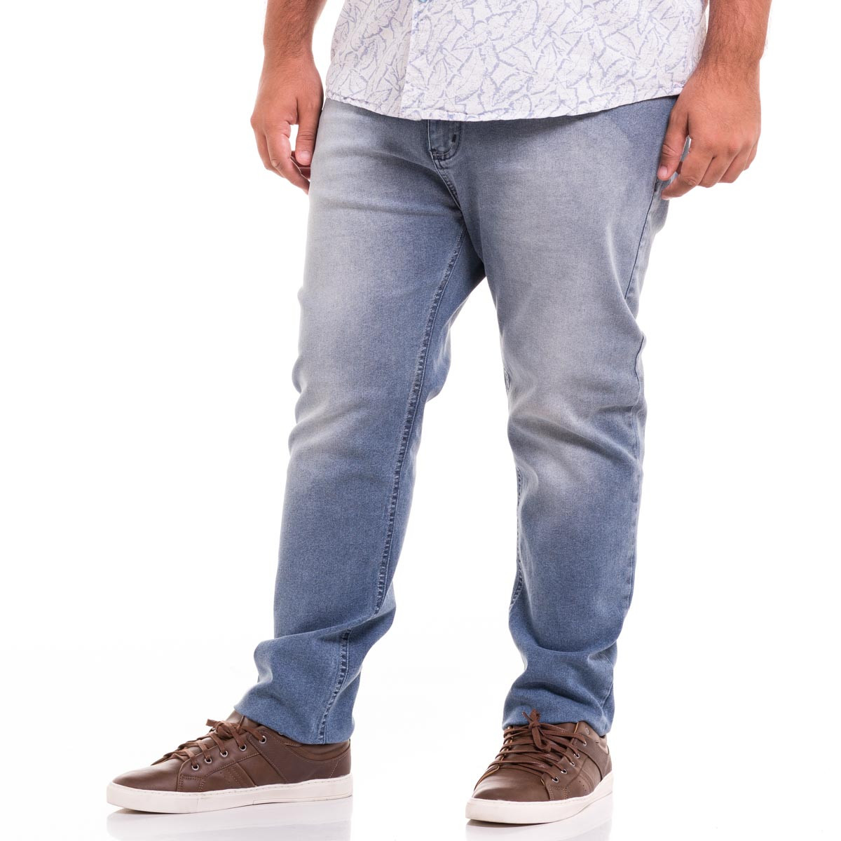Calça Jeans Plus Size Masculina Black Blue Used