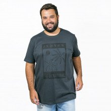 Camiseta Plus Size Masculina Be Natural Chumbo