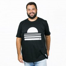 Camiseta Plus Size Masculina Por do Sol Preta