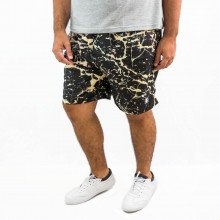 Short Plus Size Masculino Abstract Black