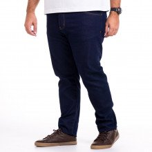 Calça Plus Size Masculina Jeans Slim Blue Look