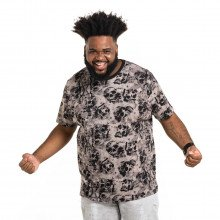 Camiseta Plus Size Masculina Skull Smoke Black