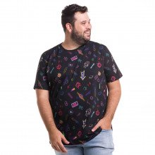 Camiseta Plus Size Masculina Old School