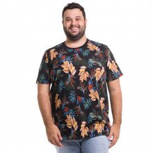 Camiseta Plus Size Masculina Dark Leaves