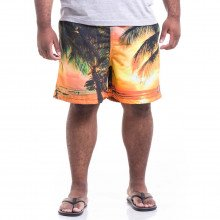 Short Microfibra Plus Size Masculino Summer Beach