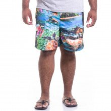 Short Microfibra Plus Size Masculino Ocean Turtles