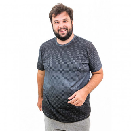 Camiseta Plus Size Masculina Micro Points