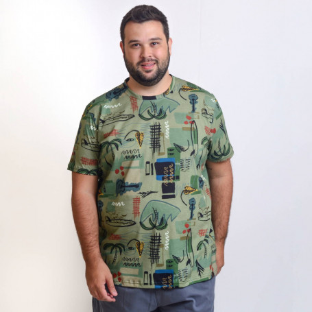 Camiseta Plus Size Masculina Guitar