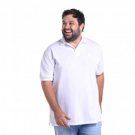 Polo Plus Size Masculina Básica Confort