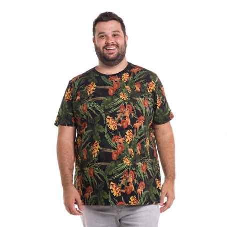 Camiseta Plus Size Masculina Colorful