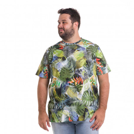 Camiseta Plus Size Masculina Island of Leaves