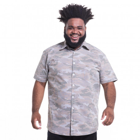 Camisa Plus Size Masculina Manga Curta Jungle