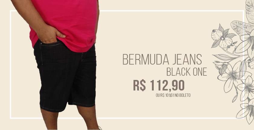Bermuda Jeans Black One